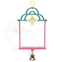Avian Select Polly Pals Two-In-One Swing with Star Mirror and Bell Bird Toy